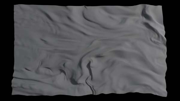 A cross section of a smoke simulation bears a resemblance to e.g. a flag blowing in the wind or a turbulent water surface. All three are turbulent fluid flows, interacting with themselves, other fluids and/or materials.
