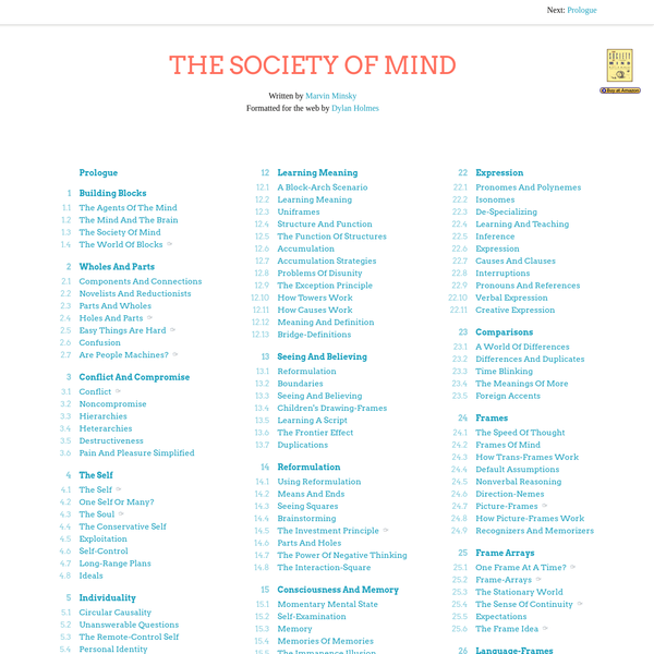 The Society of Mind Text & Video Archive