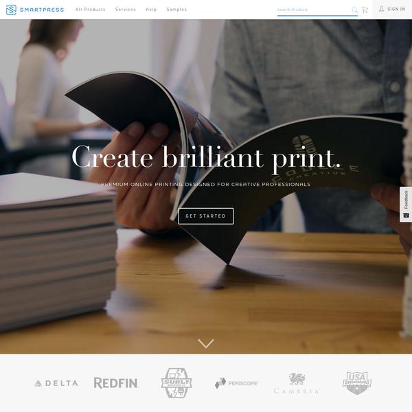 Smartpress   Premium Online Printing Designed for Creative Professionals   Create brilliant print.