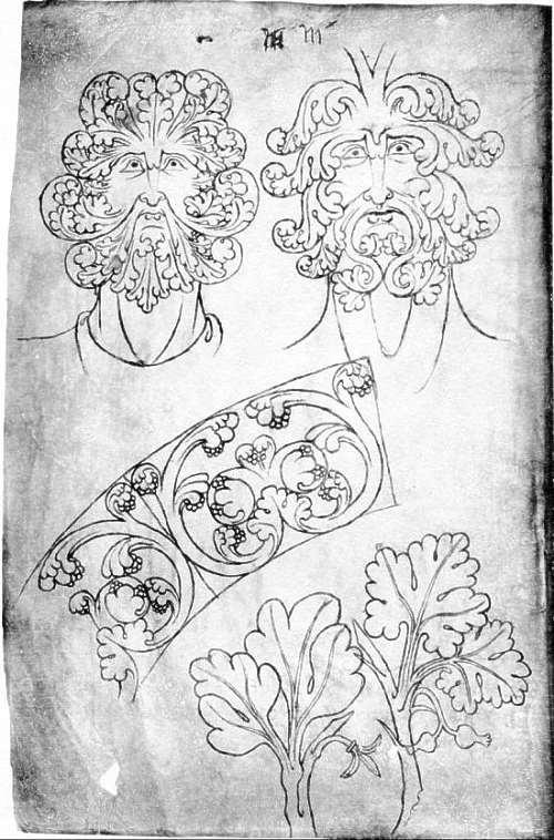 Green Man -  Sketches by Villard de Honnecourt, c.1230