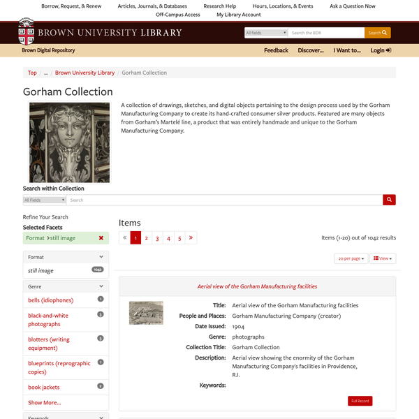 Brown University Library | Collection | Gorham Collection