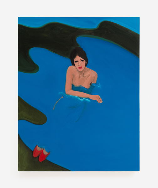 2017.10 Becky Kolsrud: Allegorical Nudes, Bather in Red, 2017