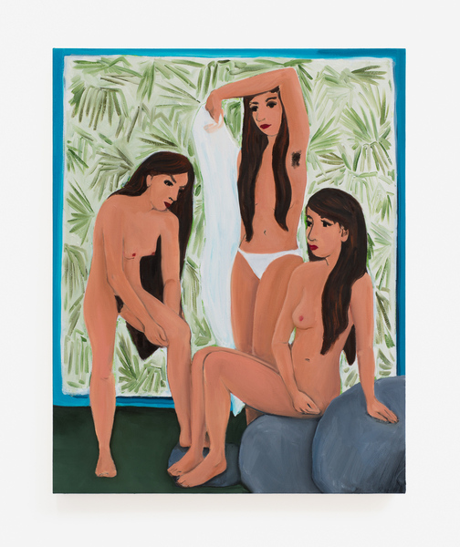 2017.10 Becky Kolsrud: Allegorical Nudes, Bathers with Backdrop, 2017