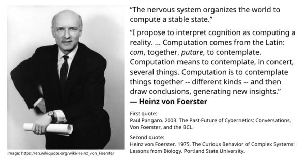 Heinz von Foerster - computing a reality