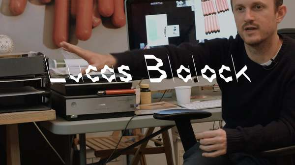 on Hot Dogs, Digital Media and the Embodied Viewer: Lucas Blalock in his New York studio.