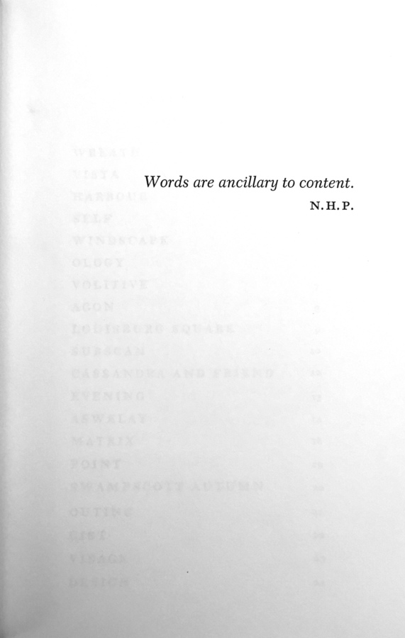 Pritchard, N.H., epigraph, _The Matrix_ (Garden City: Doubleday & Company, 1970).