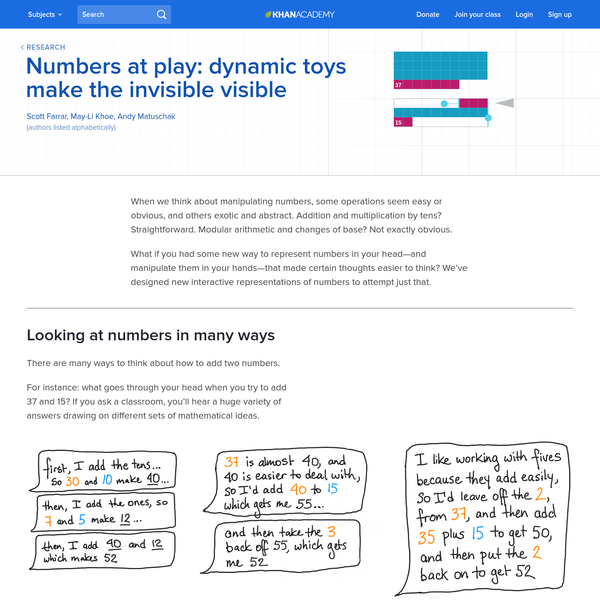 Numbers at play: dynamic toys make the invisible visible