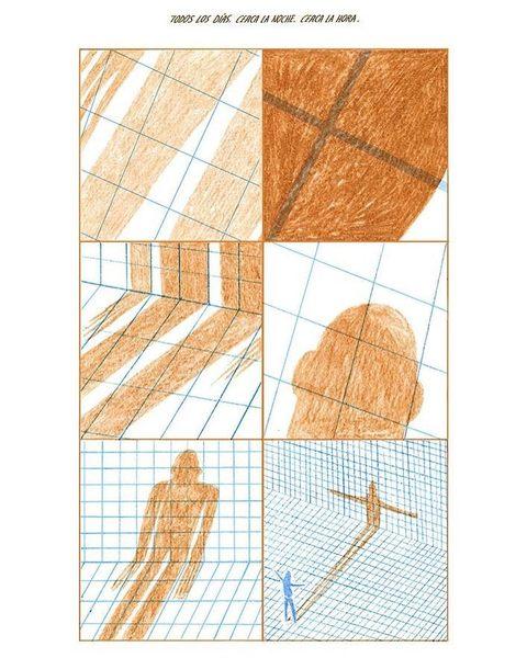 💙 CERCA LA NOCHE 💙 de Cynthia Alfonso, trata el arquetipo de la sombra y las relaciones del propio inconsciente, quien engañando y hartando consigue deshacerse de la parte más mezquina de su ser. #zine #fanzine #fosfatina #fosfatina2000 #riso #risograph #clubfosfatina2000 #cynthiaalfonso #comic #comicbook #fosfatinaediciones