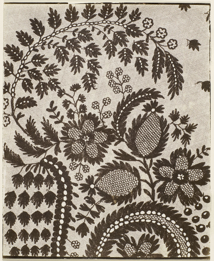 William Henry Fox Talbot - Lace (1841) Calotype