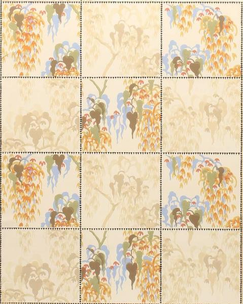 Charles Burchfield - Modernist Wall Paper Pattern (1921)