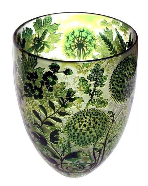 Jonathan Harris - Carved Glass Vase (2012)