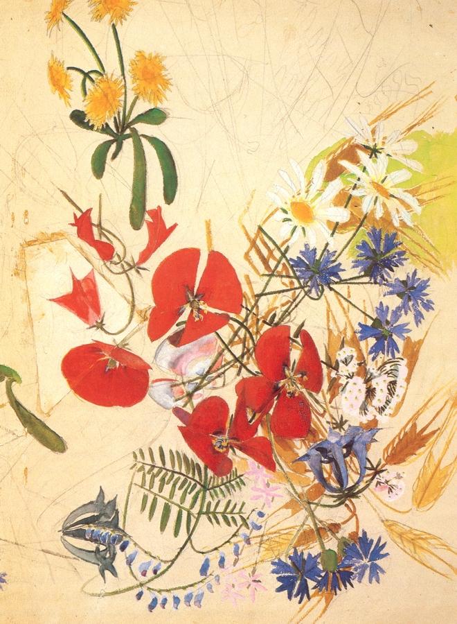 Mikhail Vrubel - Field Flowers (1884)