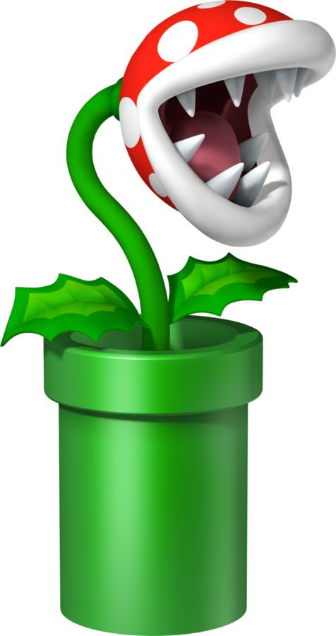 Artwork of a Piranha Plant in Mario Party DS (2007)