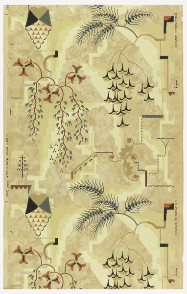 Charles Burchfield - Sidewall, Modernistic Wallpaper (1927)