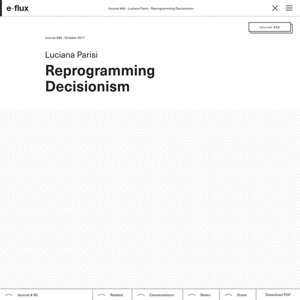 Reprogramming Decisionism