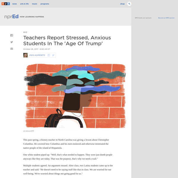 Teachers Report Stressed Anxious >> Are Na Teachers Report Stressed Anxious Students In The Age Of