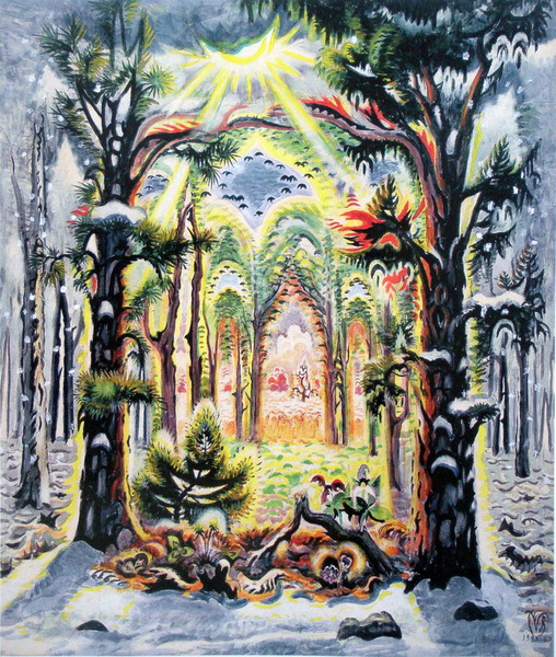 Charles Burchfield, The Four Seasons, 1949–60