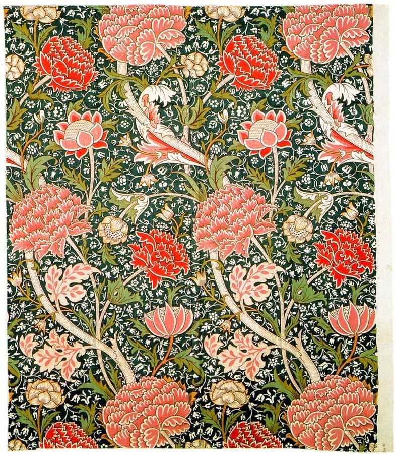 William Morris, Cray, 1884, block-printed cotton,