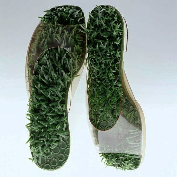 """Barefoot in the Grass"" sandals, Herbert & Beth Levine (c.1960s)"