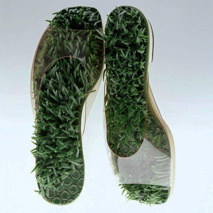 """Barefoot in the Grass"" sandals, Herbert & Beth Levine (c.1960s)"