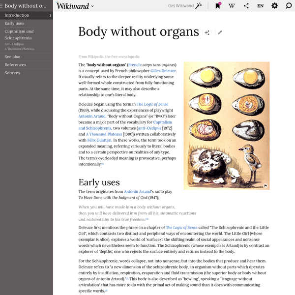 Body without organs | Wikiwand