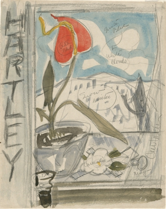 Study for Poster Portrait Marsden Hartley Charles Demuth Date: 1924 Style: Expressionism Genre: sketch and study