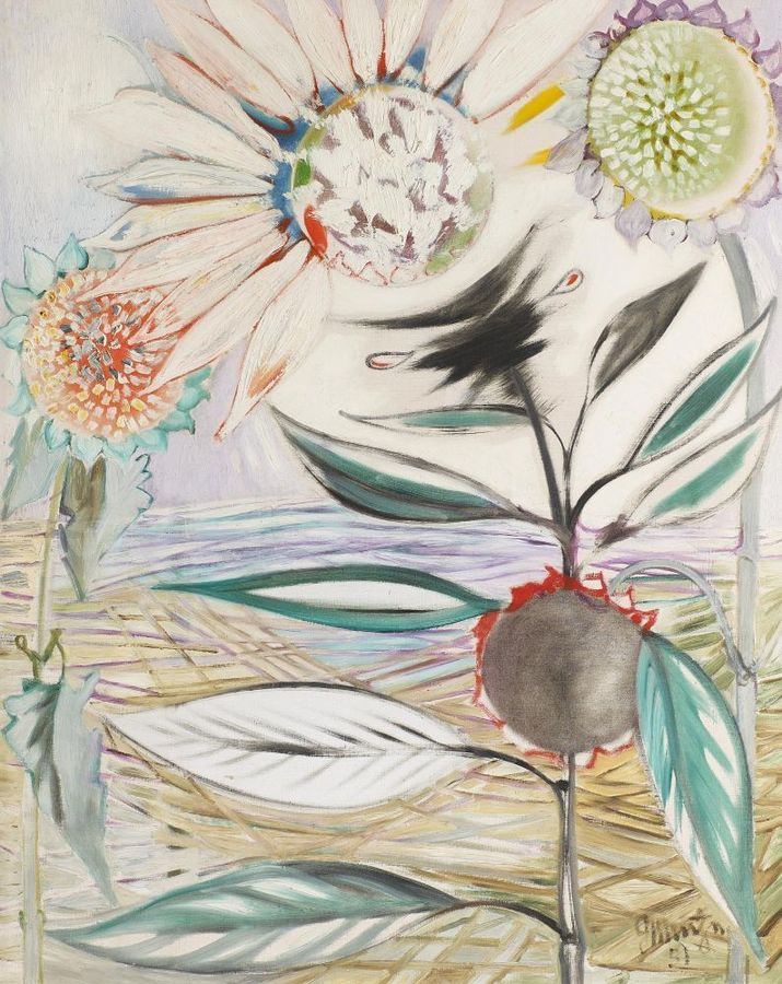 Georg Muche - Hebst I [Autumn I] (1951)