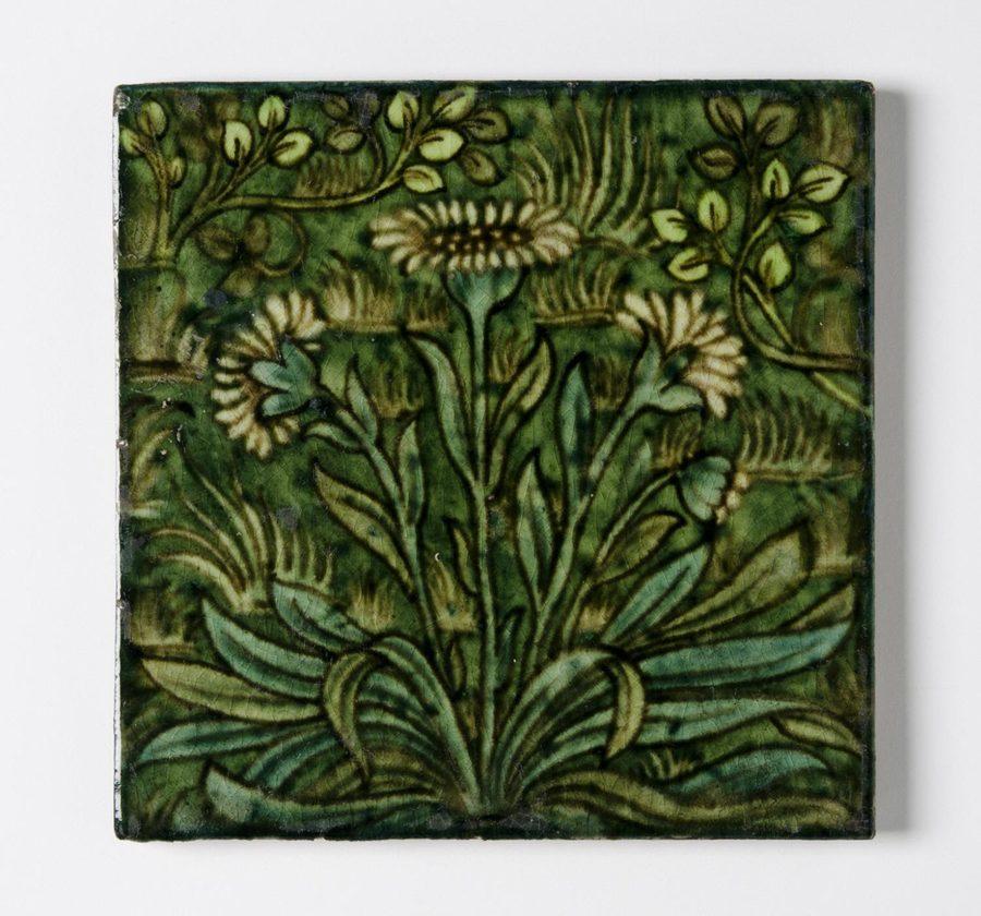 Glazed Earthenware Tile - William Frend de Morgan (1895)