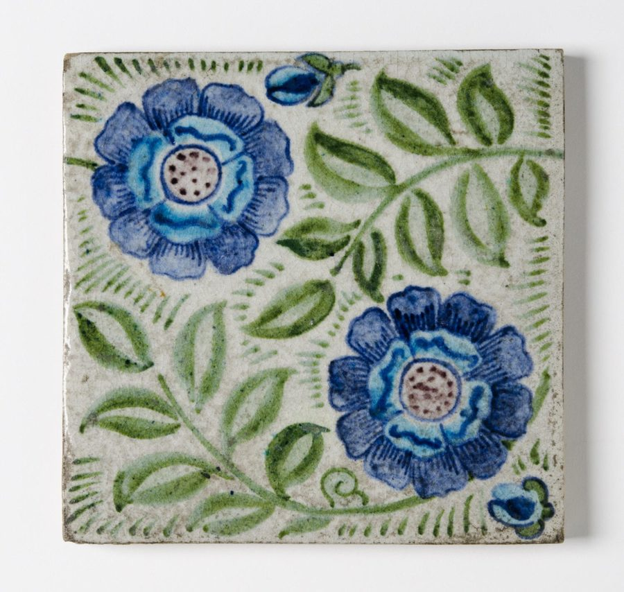 Tile  William Frend de Morgan, English, 1839 - 1907  Geography: Made in Merton Abbey, London, England, Europe Date: 1882-1888 Medium: Glazed earthenware Dimensions: 6 x 6 inches (15.2 x 15.2 cm)  http://www.philamuseum.org/collections/permanent/181205.html?mulR=1854194731|6