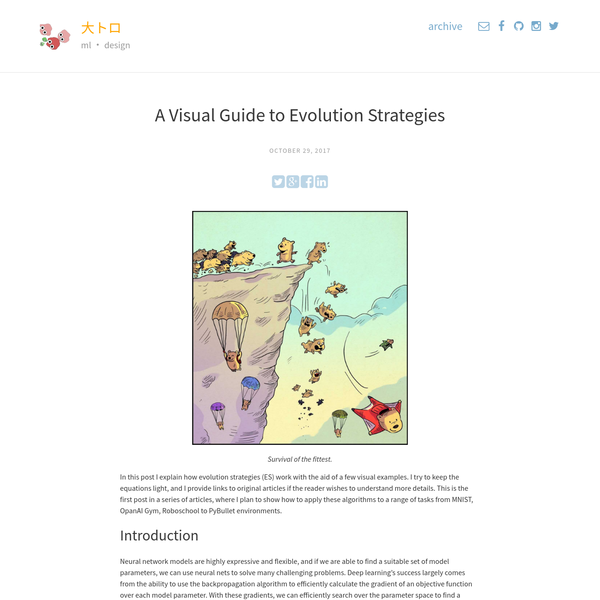 A Visual Guide to Evolution Strategies | 大トロ
