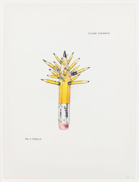 2013.06 Stuart Sherman : Proposed Sculptural Projects..., No. 2 Pencils, c.1985-1989