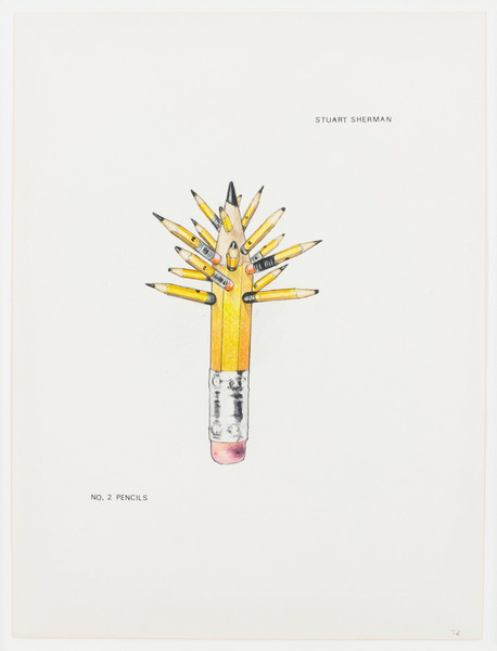 2013.06 Stuart Sherman : Proposed Sculptural Projects..., No. 2 Pencils, c.1985-1989