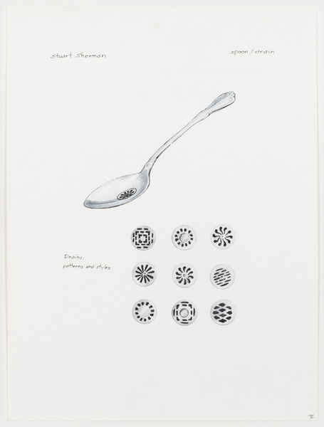 2013.06 Stuart Sherman : Proposed Sculptural Projects..., spoon / drain, c.1985-1989