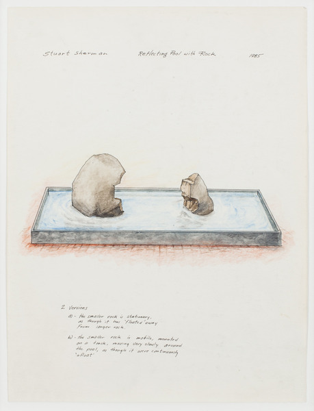 2013.06 Stuart Sherman : Proposed Sculptural Projects..., Reflecting Pool with Rock, 1985