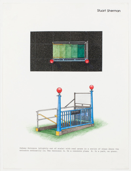 2013.06 Stuart Sherman : Proposed Sculptural Projects..., Subway Entrance, c. 1985-1989