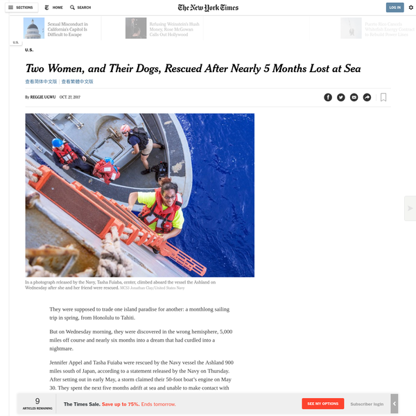 Two Women, and Their Dogs, Rescued After Nearly 5 Months Lost at Sea