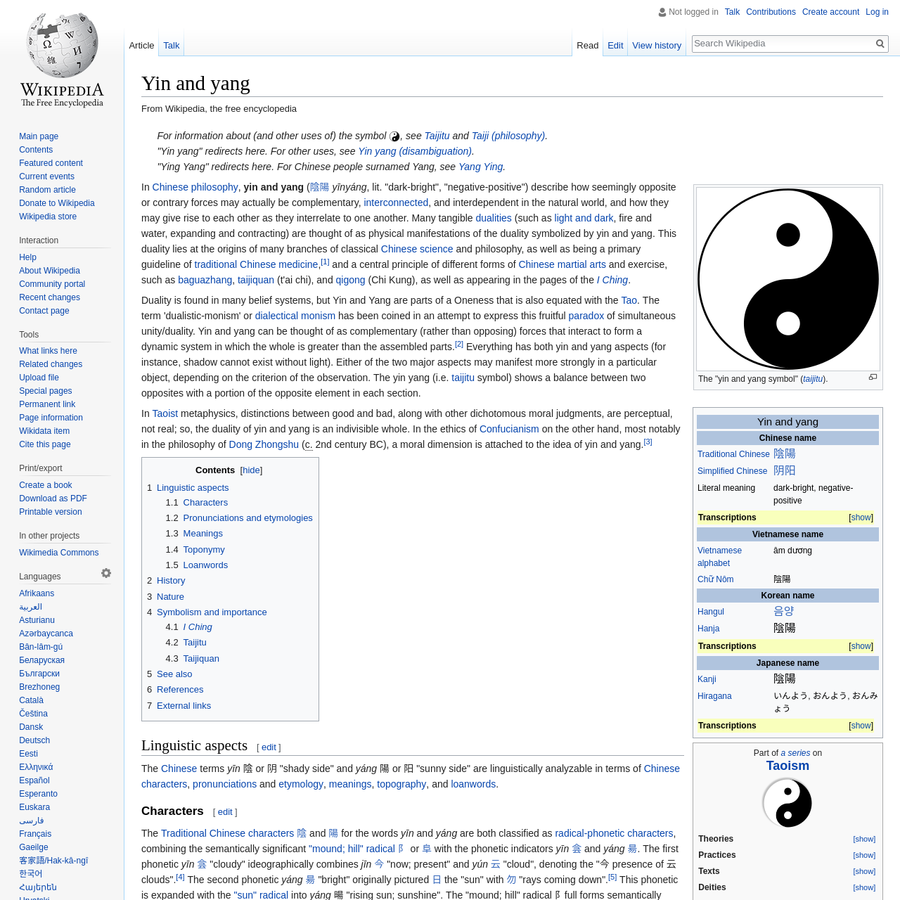 philosophy and theory of yin and yang essay Philosophy yin yang theory the origin of the yin yang theory the original concept of yin and yang came from the observation of nature and view full essay.