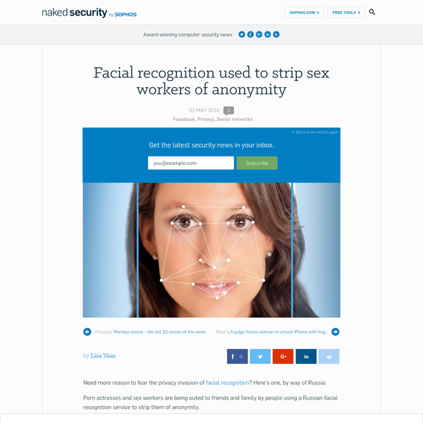 Facial recognition used to strip sex workers of anonymity