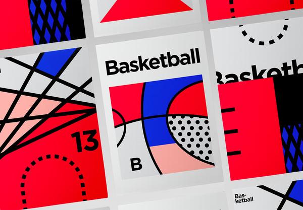 Minimalist Graphic Design - Basketball & Tennis