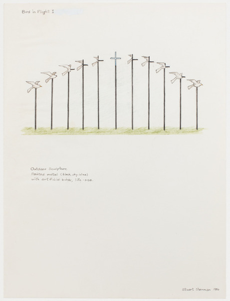 2013.06 Stuart Sherman : Proposed Sculptural Projects..., Bird in Flight I, 1986