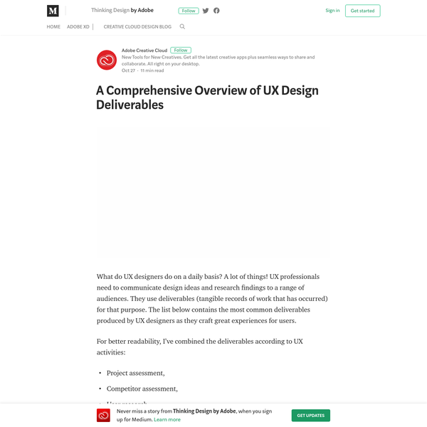 What do UX designers do on a daily basis? A lot of things! UX professionals need to communicate design ideas and research findings to a range of audiences. They use deliverables (tangible records of work that has occurred) for that purpose.