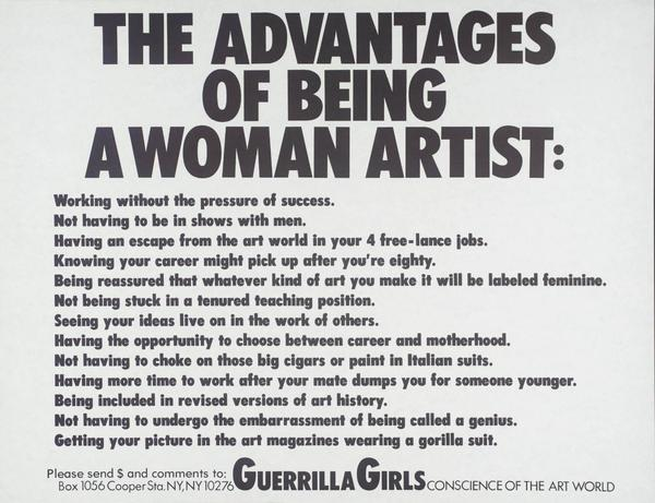 Guerilla Girls: The Advantages of Being a Woman Artist