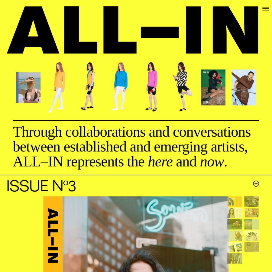 ALL-IN is for everyone. At a time when people are increasingly disconnected, ALL-IN is about bringing people together.