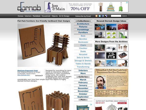 Flat-Pack Furniture: Eco-Friendly Cardboard Chair Designs by David Graas
