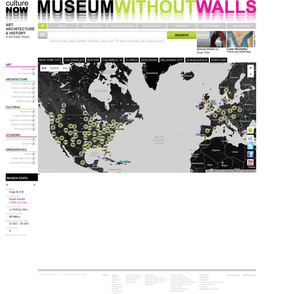 CultureNOW is a nonprofit organization mapping history, art, and architecture in the public realm creating a 'museum without walls.'