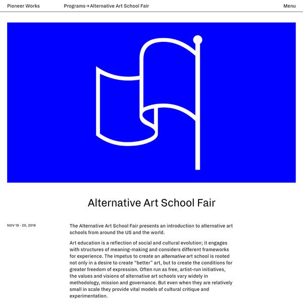 Alternative Art School Fair | Pioneer Works