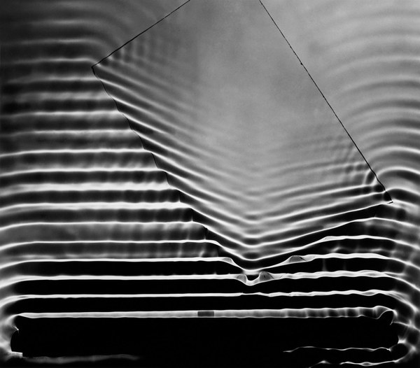 Berenice Abbott - Wave Pattern with Glass Plate, c.1958
