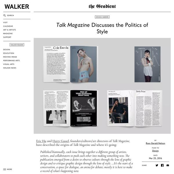 Talk Magazine Discusses the Politics of Style