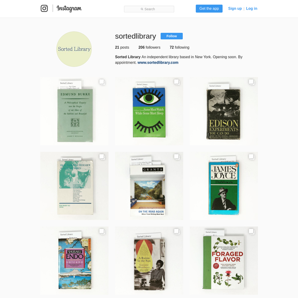 206 Followers, 72 Following, 21 Posts - See Instagram photos and videos from Sorted Library (@sortedlibrary)