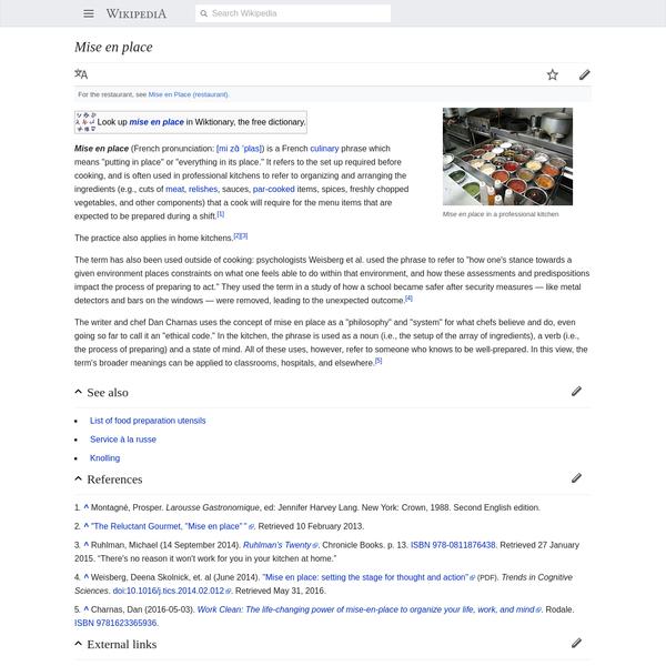 Mise en place - Wikipedia